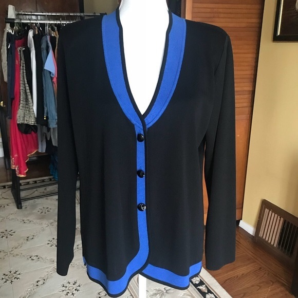 Misook Sweaters Exclusively Misook Royal Blue Cardigan Plus Poshmark